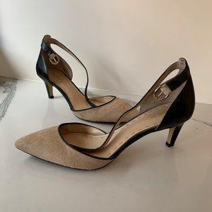 Enzo Angiolini calf hair strappy heels